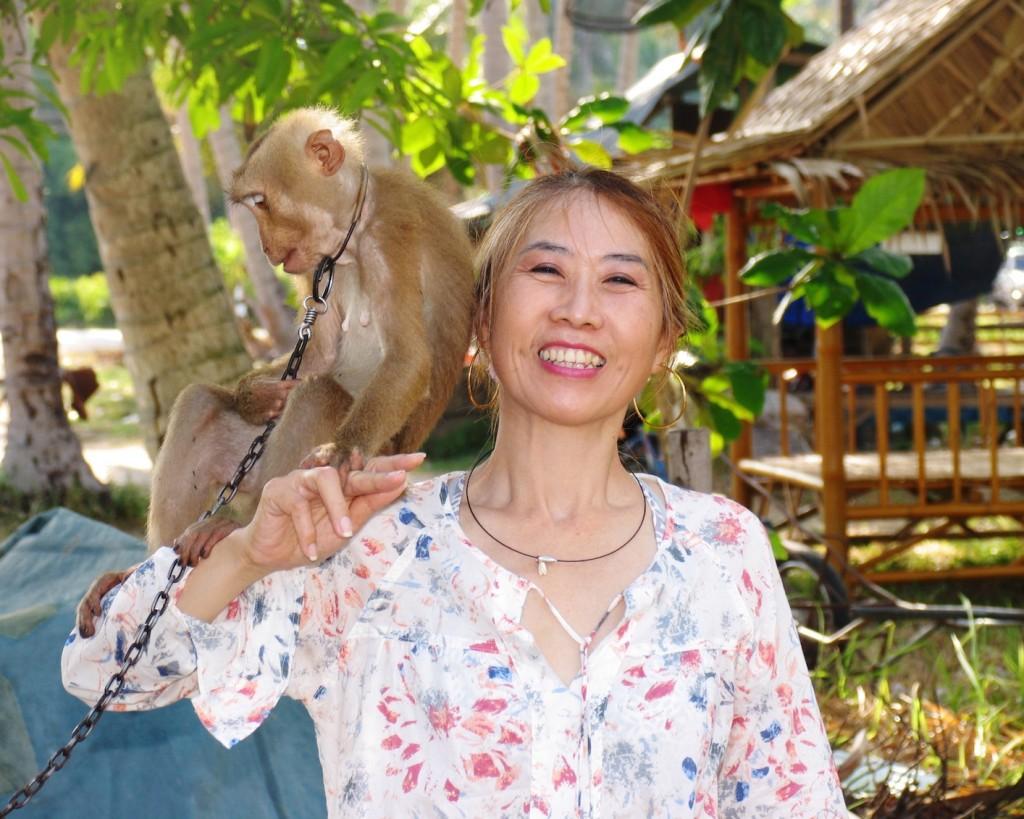 Wandee and monkey